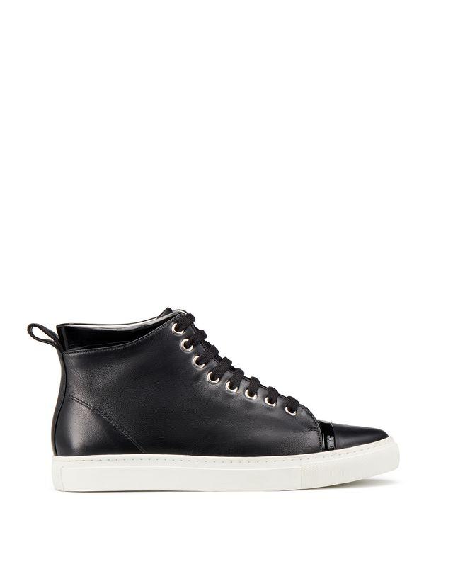 LANVIN NAPPA MID-TOP SNEAKER Sneakers D f