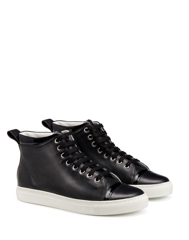 LANVIN NAPPA MID-TOP SNEAKER Sneakers D r