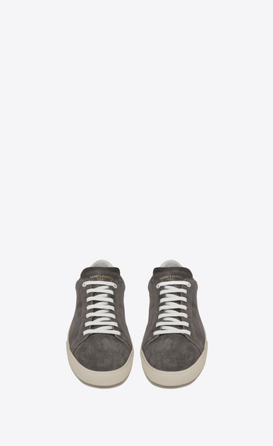 SAINT LAURENT SL/06 U signature court classic sl/06 sneaker in bronze suede and off white leather b_V4