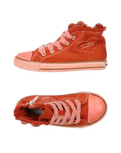 Фото - Высокие кеды и кроссовки от TWINSET красного цвета