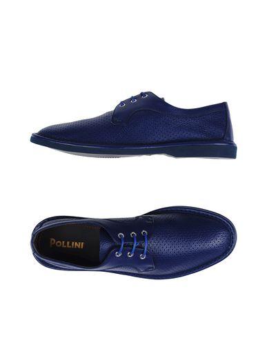 POLLINI Chaussures à lacets homme. cuir, cuir martelé, sans applications, uni, pointe arrondie, sans talons, doublure en cuir, semelle e
