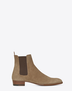 SAINT LAURENT Boots U classic wyatt 30 chelsea boot in light tobacco suede f