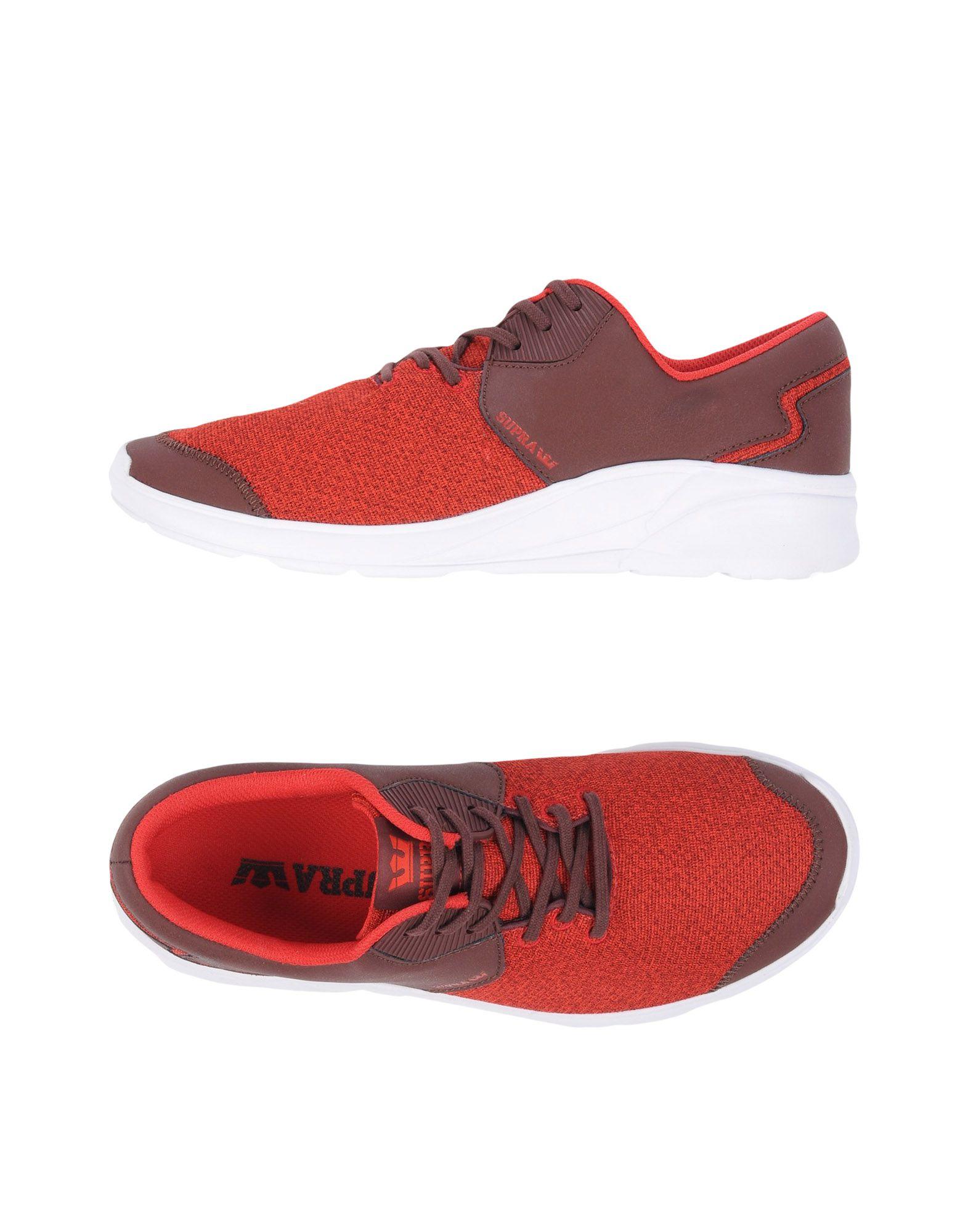 《送料無料》SUPRA メンズ スニーカー&テニスシューズ(ローカット) レンガ 9.5 革 紡績繊維