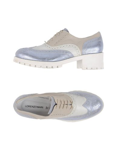 Обувь на шнурках LORENZO MARI. Цвет: серебристый