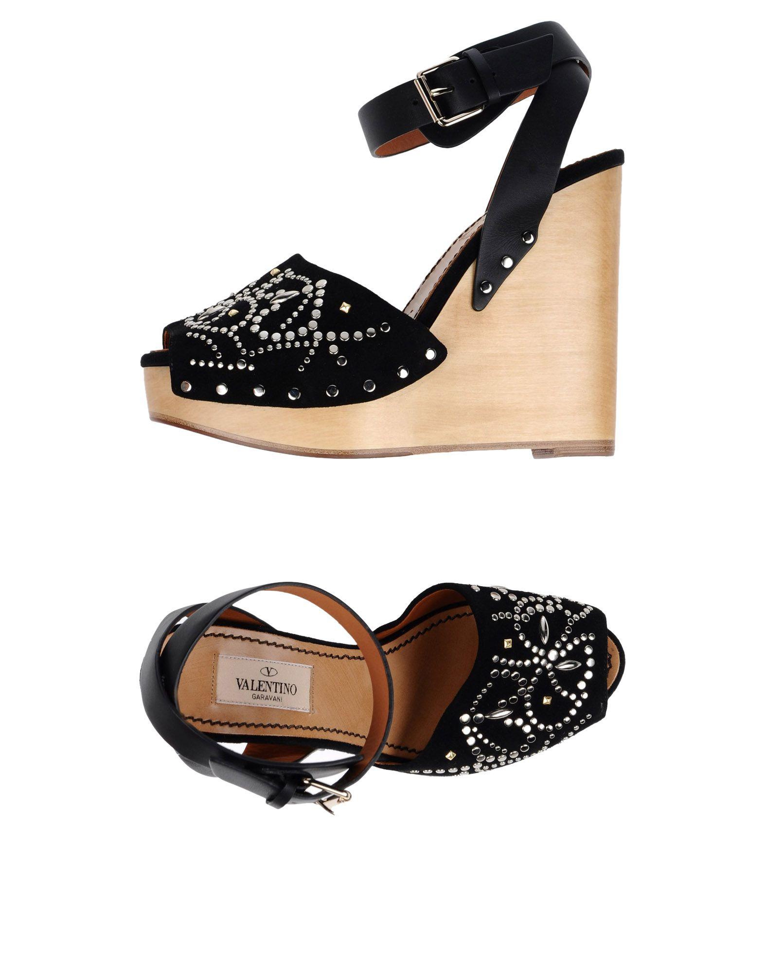 VALENTINO GARAVANI Damen Sandale Farbe Schwarz Größe 11