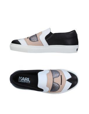 KARL LAGERFELD Damen Low Sneakers & Tennisschuhe Farbe Schwarz Größe 11