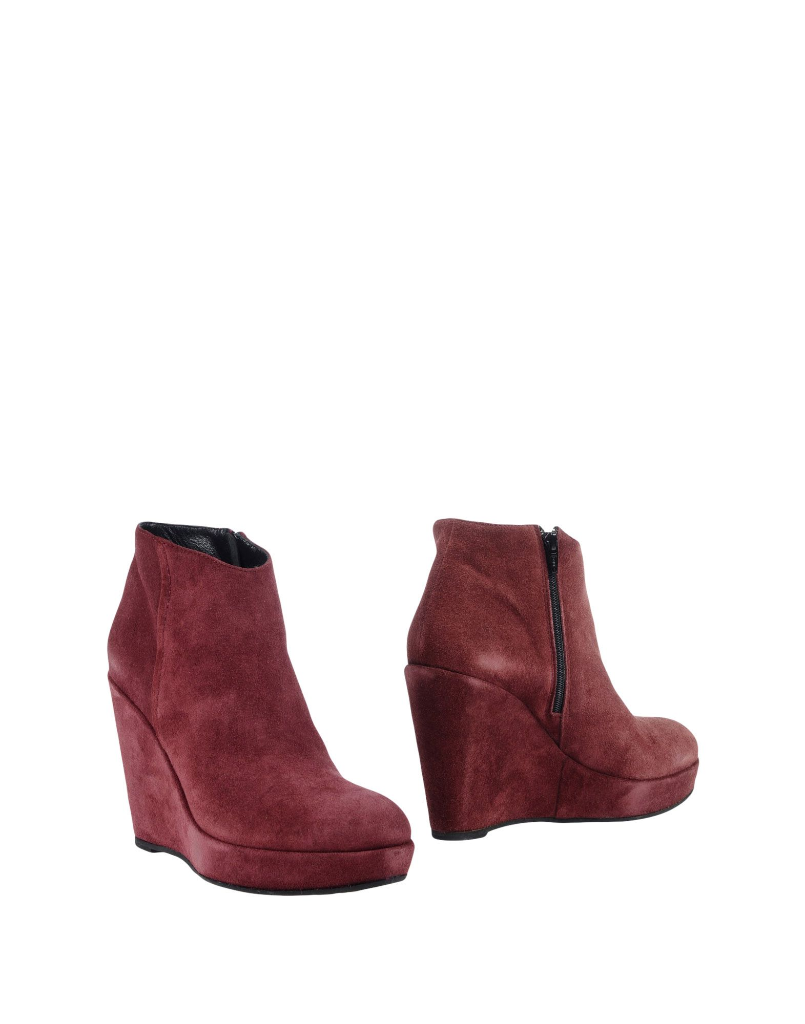 GAIA D'ESTE Ankle Boot in Maroon