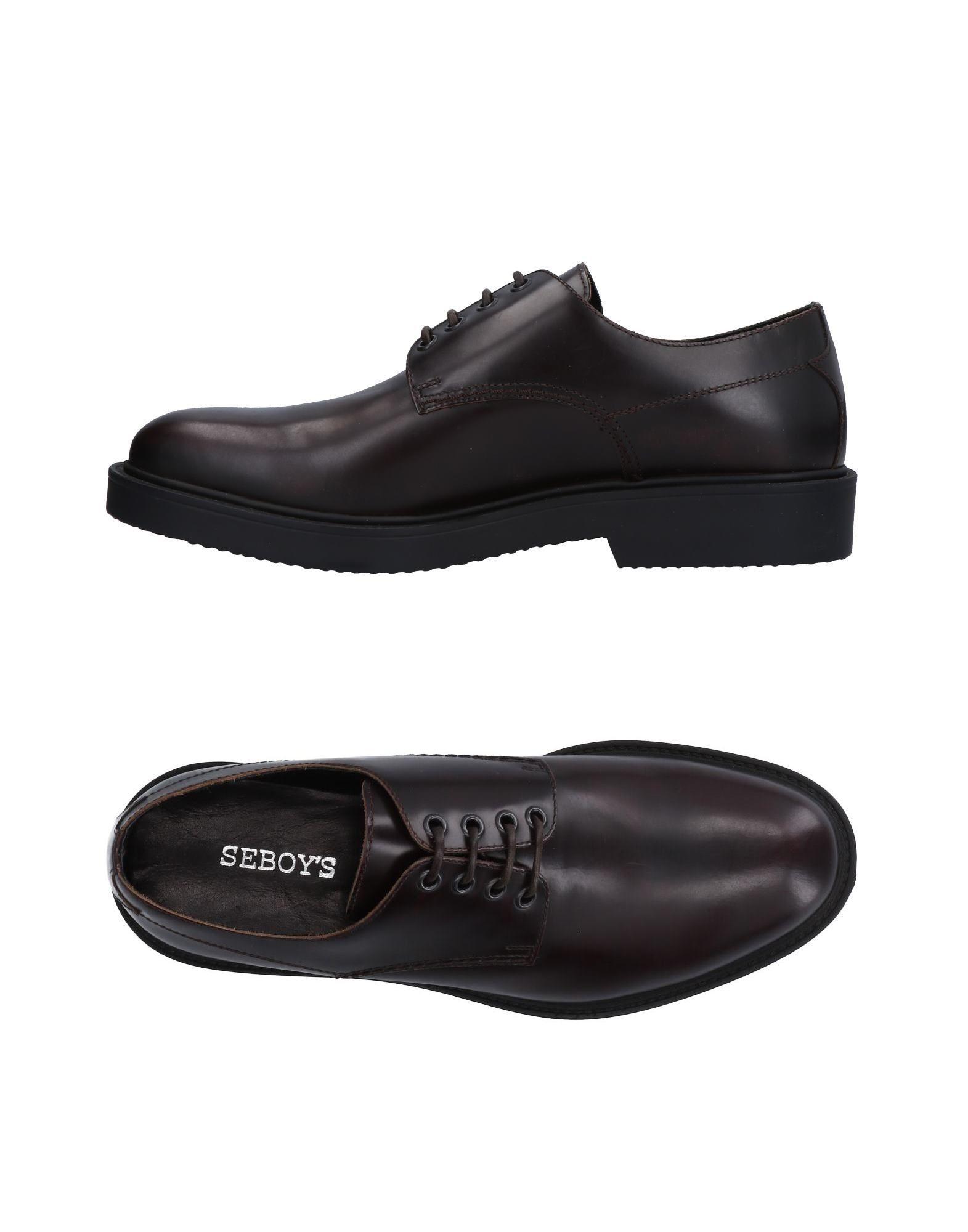 SEBOYS Laced Shoes in Dark Brown