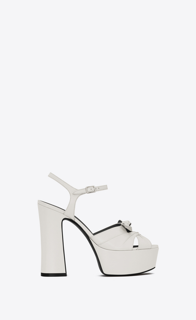 SAINT LAURENT Candy D candy 80 bow sandal in dove white a_V4