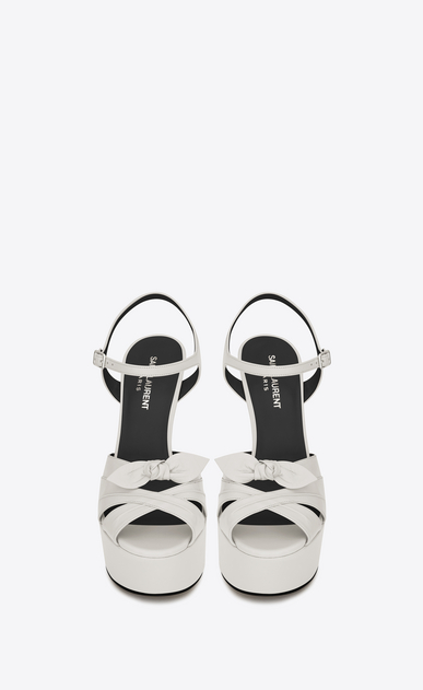 SAINT LAURENT Candy D candy 80 bow sandal in dove white b_V4