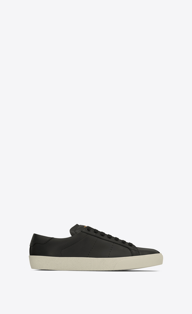 SAINT LAURENT Trainers Woman sl/06 court sneakers in black leather a_V4