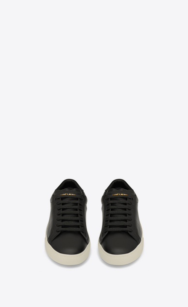 SAINT LAURENT Trainers Woman sl/06 court sneakers in black leather b_V4