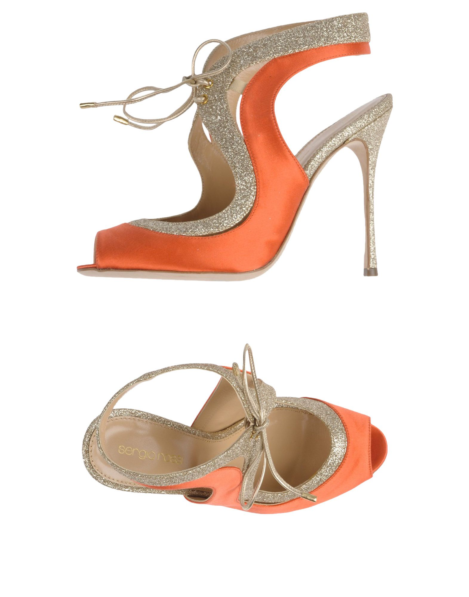 sergio rossi damen sandale farbe koralle gr e 7 jetztbilligerkaufen. Black Bedroom Furniture Sets. Home Design Ideas