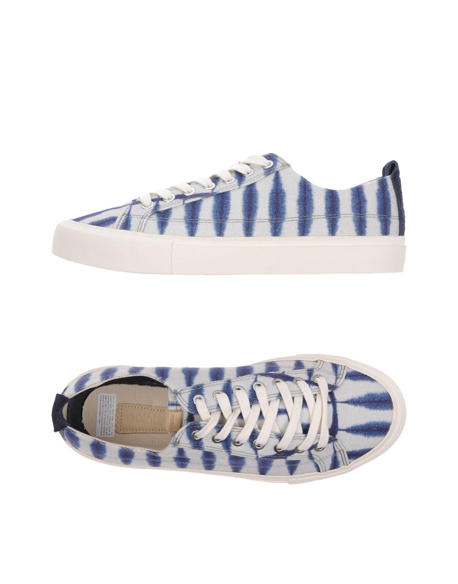 《送料無料》POINTER メンズ スニーカー&テニスシューズ(ローカット) ブルー 8 革 / 紡績繊維