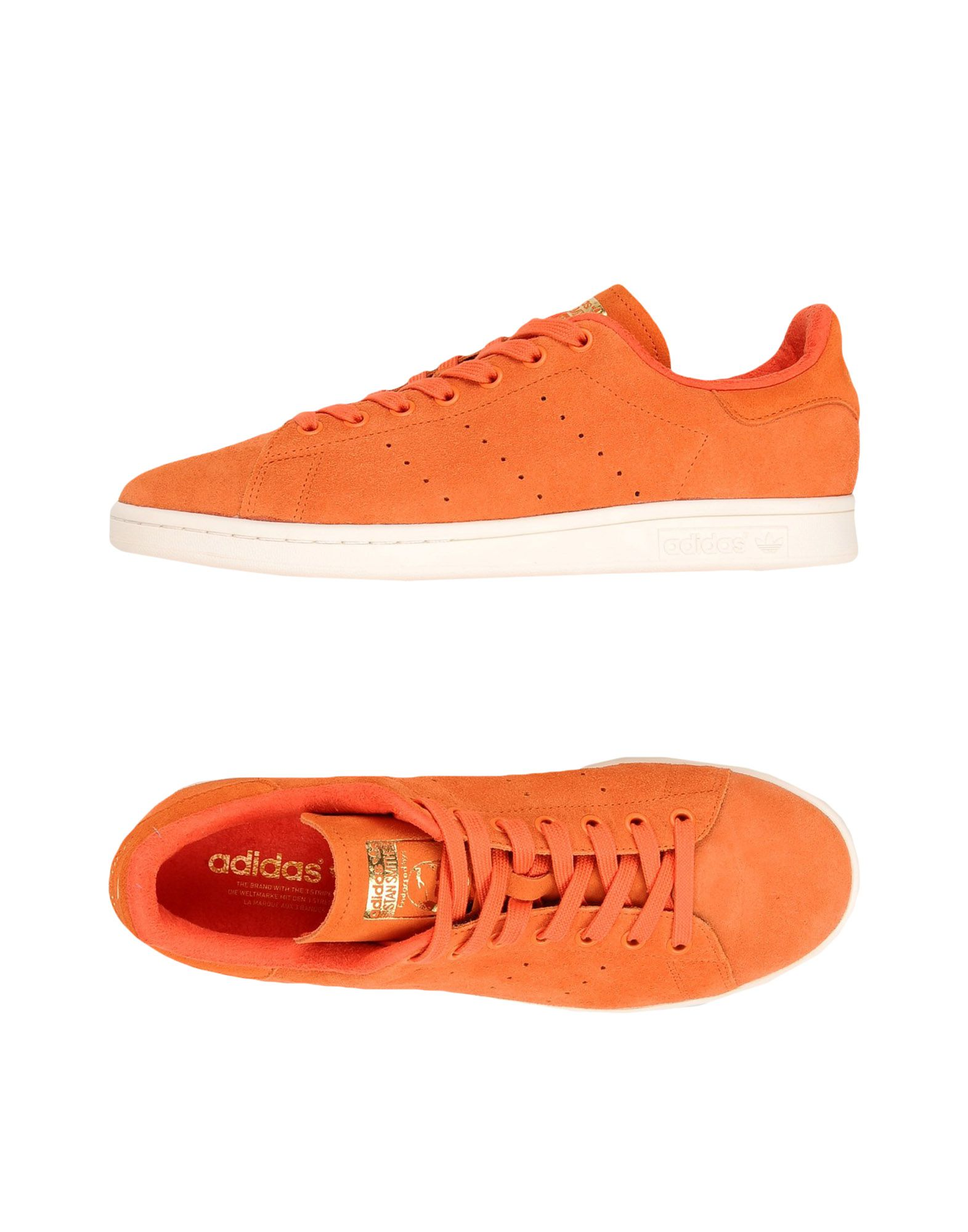 《送料無料》ADIDAS ORIGINALS メンズ スニーカー&テニスシューズ(ローカット) オレンジ 10.5 革 STAN SMITH
