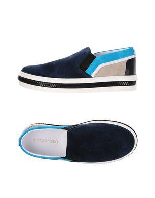 SERGIO ROSSI Herren Low Sneakers & Tennisschuhe Farbe Dunkelblau Größe 7