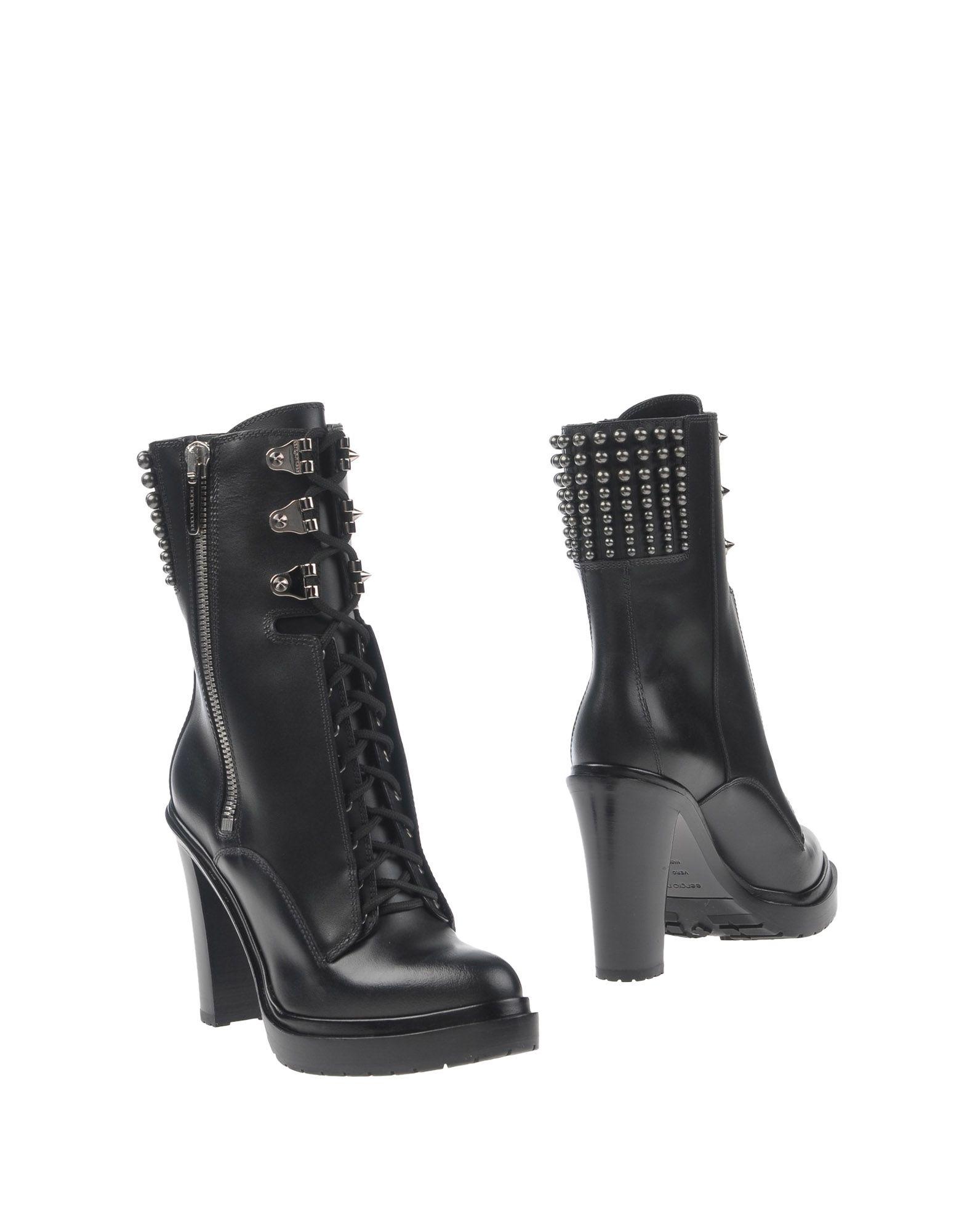 SERGIO ROSSI Damen Stiefelette Farbe Schwarz Größe 13