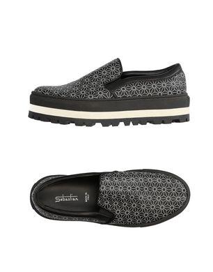 SEBASTIAN Damen Low Sneakers & Tennisschuhe Farbe Schwarz Größe 7 Sale Angebote