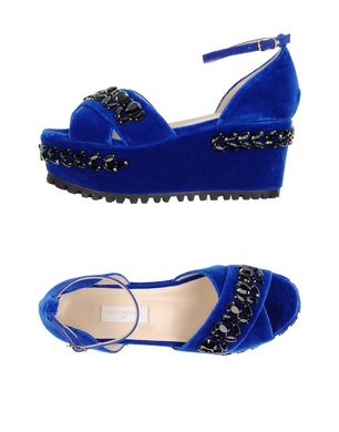 L´ AUTRE CHOSE Damen Sandale Farbe Blau Größe 9 Sale Angebote