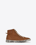 SAINT LAURENT High top sneakers U Sneaker mi-haute joe en cuir cognac f