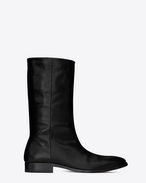 SAINT LAURENT Boots U MATT 25 boots in crinkled black patent leather f