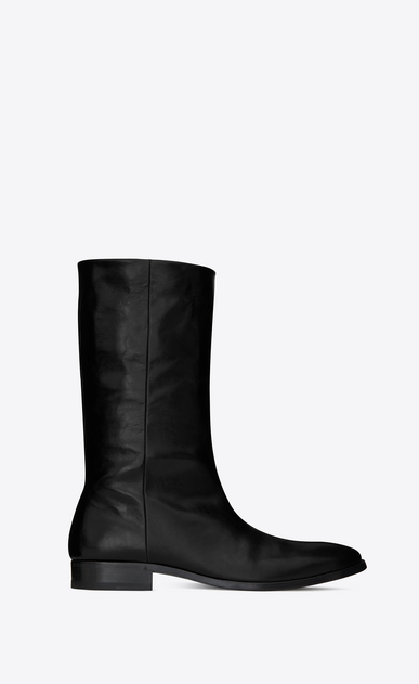 SAINT LAURENT Boots U MATT 25 boots in crinkled black patent leather a_V4