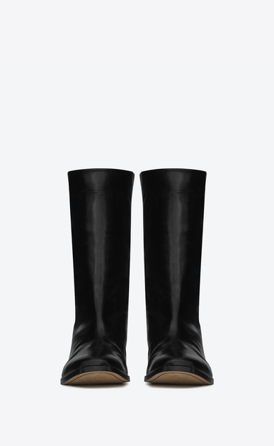 SAINT LAURENT Boots U MATT 25 boots in crinkled black patent leather b_V4