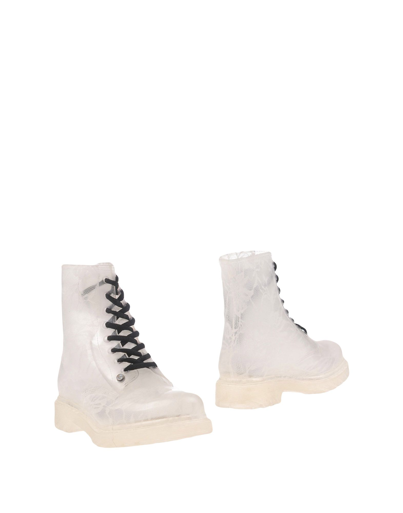 G SIX WORKSHOP Ankle Boots in White