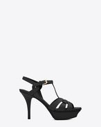 SAINT LAURENT Tribute D classic tribute 75 sandal in black leather f