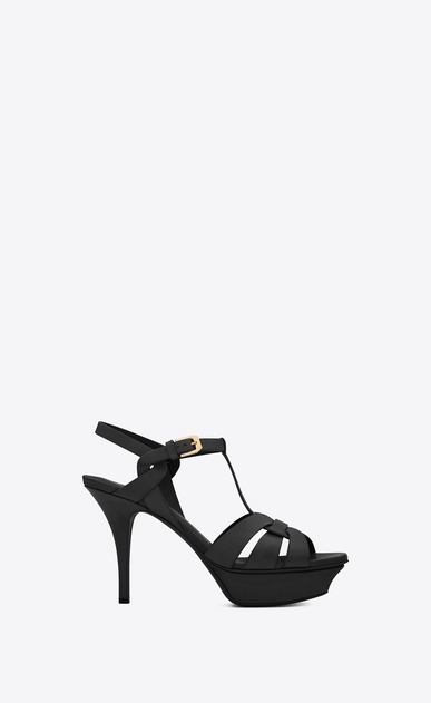 SAINT LAURENT Tribute Woman classic tribute 75 sandal in amber leather  V4