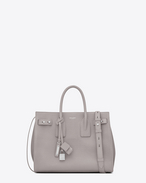 SAINT LAURENT Sac De Jour Supple D Small SAC DE JOUR SOUPLE bag in mouse-gray grained leather f