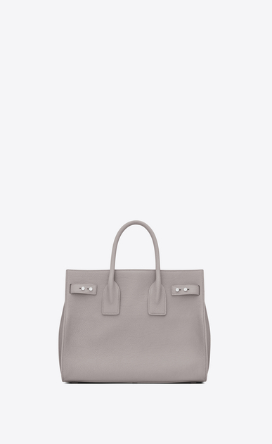 SAINT LAURENT Sac De Jour Supple D Small SAC DE JOUR SOUPLE bag in mouse-gray grained leather b_V4