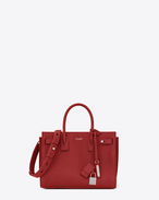 SAINT LAURENT Sac De Jour Supple D Bag Baby SAC DE JOUR SOUPLE rosso lipstick in pelle martellata f