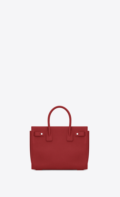 SAINT LAURENT Sac De Jour Supple D Baby SAC DE JOUR SOUPLE bag in lipstick red grained leather b_V4