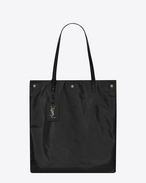 SAINT LAURENT Noe D NOE SAINT LAURENT flat shopping bag in black moroder leather f