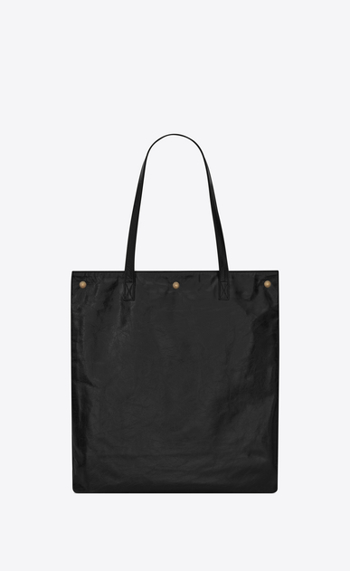 SAINT LAURENT Noe D NOE SAINT LAURENT flat shopping bag in black moroder leather b_V4