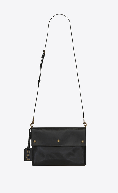 SAINT LAURENT Noe Woman NOE SAINT LAURENT crossbody bag in black moroder leather a_V4
