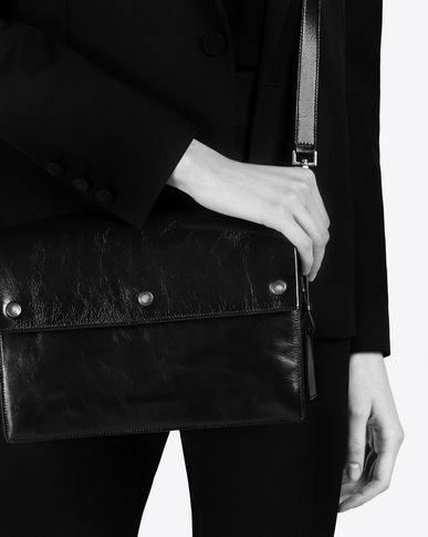 SAINT LAURENT Noe Woman NOE SAINT LAURENT crossbody bag in black moroder leather y_V4