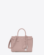 SAINT LAURENT Sac De Jour Supple D Baby SAC DE JOUR SOUPLE bag in powder pink grained leather f