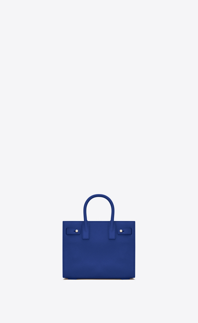 SAINT LAURENT Sac De Jour Supple D Nano SAC DE JOUR SOUPLE bag in royal blue grained leather b_V4