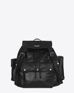 SAINT LAURENT Noe D NOE SAINT LAURENT backpack in black polished vintage leather f
