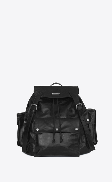 SAINT LAURENT Noe Woman NOE SAINT LAURENT backpack in black polished vintage leather a_V4
