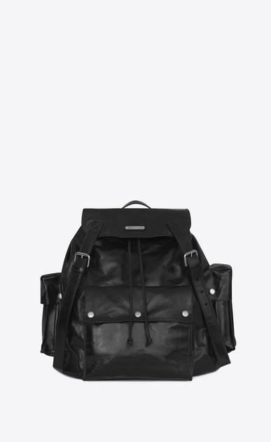 SAINT LAURENT Noe D NOE SAINT LAURENT backpack in black polished vintage leather v4