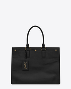 SAINT LAURENT Noe D NOE SAINT LAURENT cabas bag in black moroder leather f