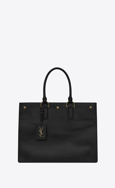 SAINT LAURENT Noe D NOE SAINT LAURENT cabas bag in black moroder leather a_V4
