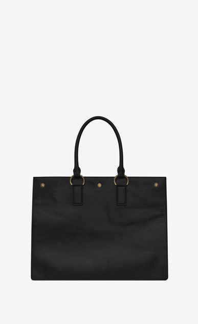 SAINT LAURENT Noe Woman NOE SAINT LAURENT cabas bag in black moroder leather b_V4