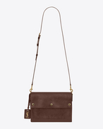 SAINT LAURENT Noe D NOE SAINT LAURENT crossbody bag in cognac shiny leather f
