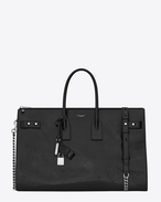 SAINT LAURENT Sac De Jour Supple D SAC DE JOUR SOUPLE 36 duffle bag nera in pelle moroder f