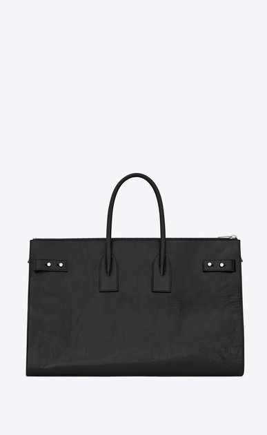 SAINT LAURENT Sac De Jour Supple Woman sac de jour souple 36h duffle bag in black moroder leather b_V4