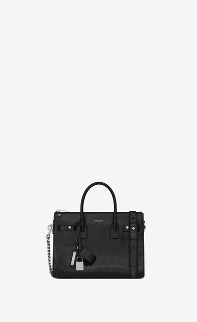 SAINT LAURENT Sac De Jour Supple Woman Baby SAC DE JOUR SOUPLE duffle bag in black moroder leather a_V4
